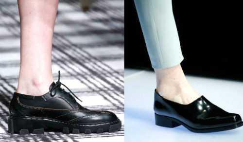 туфли на платформе без каблука: подбираем удобную обувь